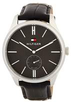 Tommy Hilfiger Men's Curtis Croc Embossed Leather Strap Watch, 44mm
