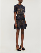 Self-Portrait Self Portrait Tiered floral-lace mini dress
