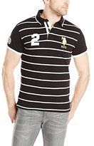 U.S. Polo Assn. Men's Slim Fit Stripe and Solid Pique Polo Shirt