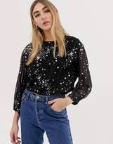 Warehouse Star Printed Top