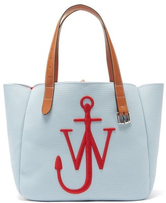 J.W.Anderson Belt Embroidered-anchor Canvas Tote Bag - Red Multi