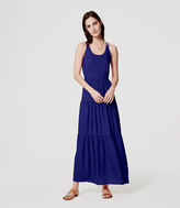 LOFT Petite Tiered Strappy Maxi Dress