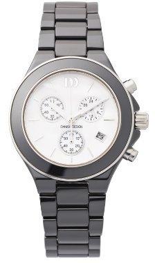 Danish Design (ダニッシュ デザイン) - デンマークデザインiv63q874ブラックセラミックホワイトダイヤルクロノグラフレディース時計