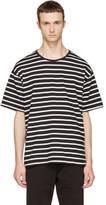 Burberry Black & White Striped T-Shirt