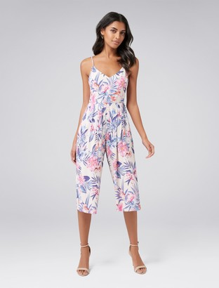 Forever New Alexia Petite Culotte Jumpsuit - Tropical Orchid - 14