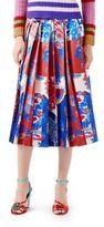 Gucci Union Jack Corsage Silk Skirt