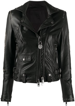 Diesel Off-Centre Zipped Biker Jacket