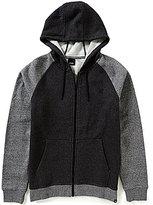 Hurley Getaway 2.0 Zip-Front Color Blocked Speckled Heathered Fleece Hoodie Jacket