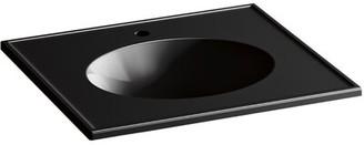 "Kohler Ceramic/Impressions 25"" Oval Vanity-Top Faucet Mount: Single"