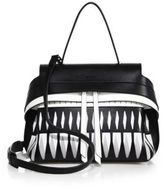 Tod's Wave Mini Two-Tone Laser-Cut Leather Satchel