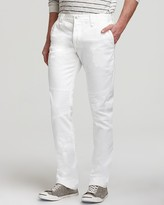 Vince Jeans - Moto Slim Straight Fit in White
