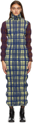 KIKO KOSTADINOV Green Wool Tartan Dress