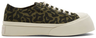 Marni Green and Black Printed Pablo Sneakers