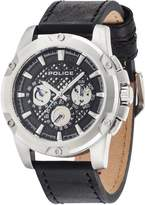 Police Men's 48mm Leather Band Steel Case Quartz Analog Watch 14689JS/02