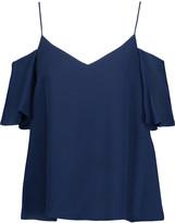 Haute Hippie Cold-shoulder embellished silk top