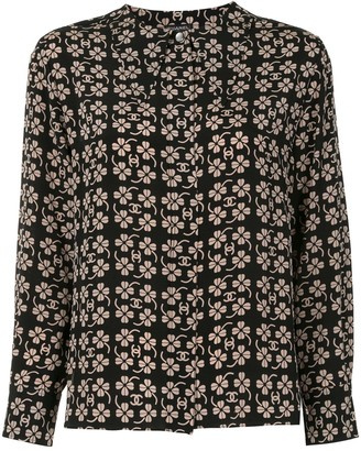 Chanel Pre Owned CC clover long sleeve tops shirt