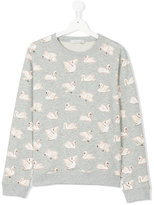 Stella McCartney teen Swan print sweatshirt