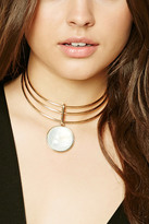 Forever 21 FOREVER 21+ Faux Stone Collar Necklace