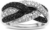 Lord & Taylor Black Diamond Ring in Sterling Silver