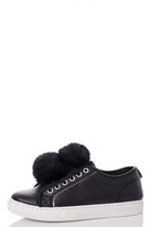 Quiz Black Pom Pom Trainers