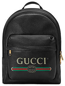 Gucci Men's Print Leather Backpack