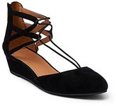 Kenneth Cole Reaction Why Not Suede Bungee Lace Wedges