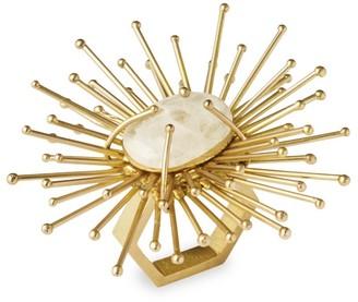 Kim Seybert Flare Brass & Quartz Napkin Ring