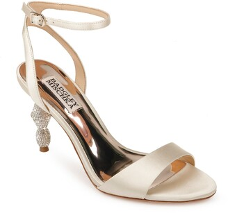 Badgley Mischka Collection Evamarie Embellished Statement Heel Sandal