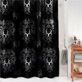 BONE COLLECTOR Bone Collector Black Shower Curtain
