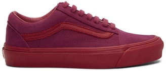Vans Pink Nubuck Old Skool LX Sneakers