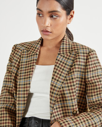 Ted Baker RAMUNE Check double-breasted jacket