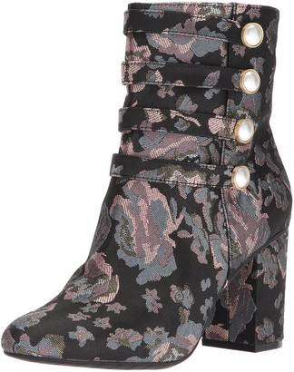 Kenneth Cole Reaction Women's Time to Be Ankle Bootie with Faux Button Detail Fabric