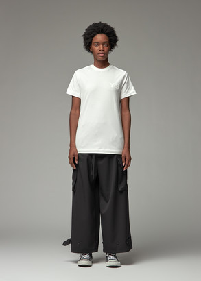 Y-3 Women's Classic Chest Logo T-Shirt in Core White Size XXS