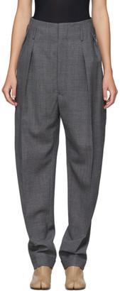 Maison Margiela Grey Structured High-Waist Trousers