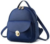 Hynbase Women Fashion Mini Casual PU Leather Schoolbag Backpack Shoulder Bag
