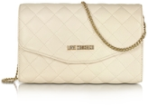 Love Moschino Evening Quilted Ivory Eco Leather Crossbody Bag
