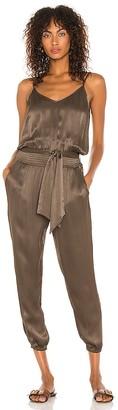 Bobi BLACK Sleek Textured Woven Jumpsuit