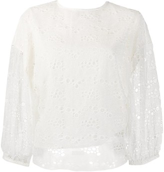 Roseanna Sheer Lace Blouse