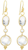 Jude Frances Provence White Topaz & Diamond Triple-Drop Earring Charms