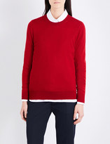 Burberry Elbow-patch wool jumper