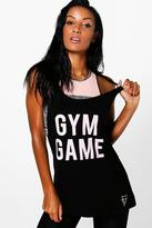 Boohoo Jenna FIT Gym Game Running Vest