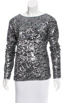 IRO Long Sleeve Sequin Top
