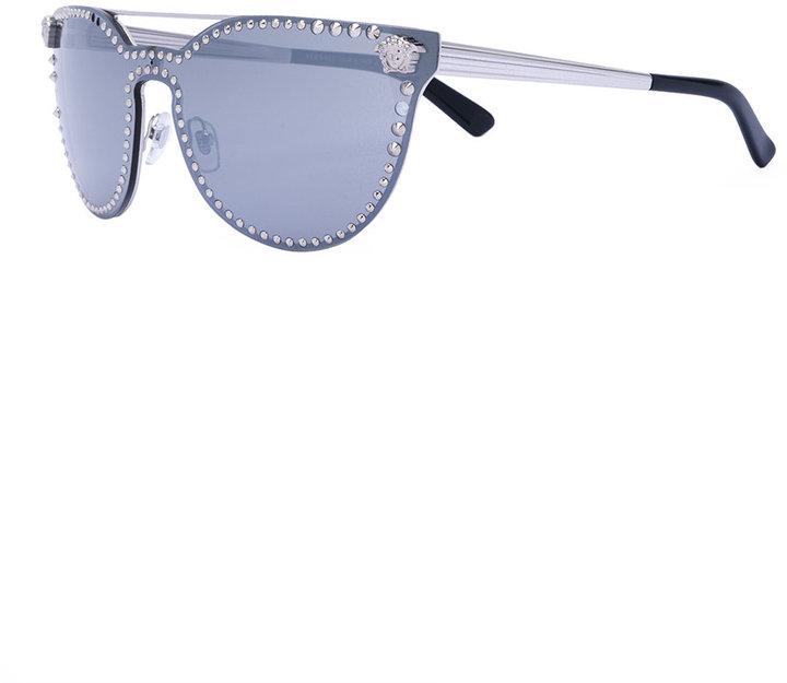 Versace mirror studded sunglasses