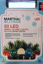 Led Christmas Lights 50 Multi Small Globe Strand Martha Stewart Living Outdoor