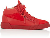 Giuseppe Zanotti Men's Double-Zip Mid-Top Sneakers-RED