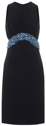 Prada Embellished crepe dress