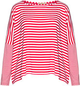 Isolde Roth Plus Size Striped oversized jersey top