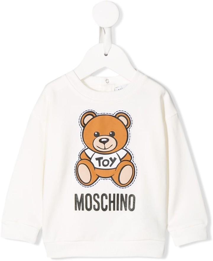 Moschino Kids Teddybear logo sweatshirt