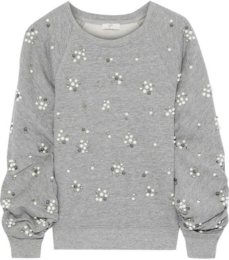 Joie Jesian Embellished French Cotton-blend Terry Sweatshirt