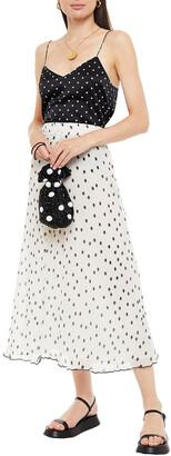 Ganni Floral-print Plisse-georgette Midi Skirt